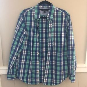 Banana Republic soft wash slim fit button up, med